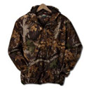 11389  Camo Hooded 1/2 Zip Pullover