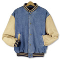 11704  Denim and Twill Baseball Jacket