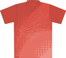 12402  Short Sleeve V-neck Full Sublimated Jersey