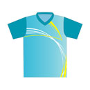 12404  Short Sleeve V-neck Full Sublimated Jersey