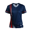 12409  Short Sleeve V-neck Full Sublimated Jersey
