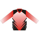 12411  Long Sleeve V-neck Sublimated Jersey