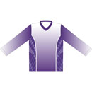 12413  Long Sleeve V-neck Sublimated Jersey