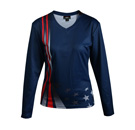 12419  Long Sleeve V-neck Sublimated Jersey