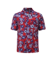 12501  Full Dye-Sub Hawaiian Floral Camp Shirt