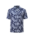 12502  Full Dye-Sub Hawaiian Floral Camp Shirt