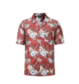 12503  Full Dye-Sub Hawaiian Floral Camp Shirt