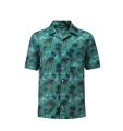 12504  Full Dye-Sub Hawaiian Palm Tree Camp Shirt