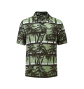 12505  Full Dye-Sub Hawaiian Palm Tree Camp Shirt