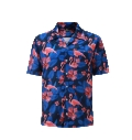 12506  Full Dye-Sub Hawaiian Flamingo Camp Shirt
