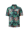 12507  Full Dye-Sub Hawaiian Parrot Camp Shirt