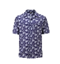 12509  Full Dye-Sub Hawaiian Floral Camp Shirt