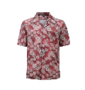 12513  Full Dye-Sub Hawaiian Floral Camp Shirt
