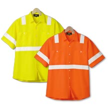 21180  Short Sleeve Safety Workshirt
