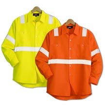 21181  Long Sleeve Safety Workshirt