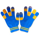 71003  Blue and Yellow Checkered Touch Gloves