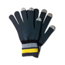 71004  Yellow Striped Collar Touch Glove