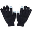 71013  Black Patterned Touch Glove