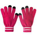 71014  Hot Pink White Collared Touch Glove