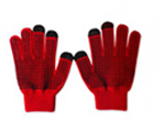 71019  Dotted RedTouch Gloves