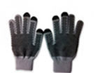 71020  Dotted Grey Touch Gloves