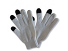 71022  Classic Light Grey Touch Gloves