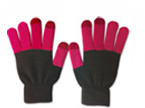 71027  Pink and Dark Grey Touch Gloves